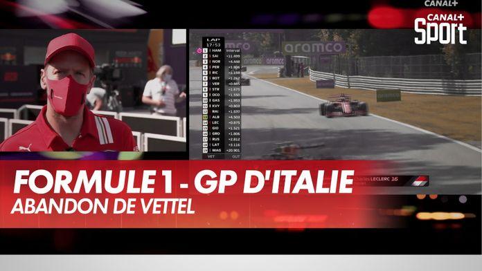 La réaction de Vettel après son abandon : Grand Prix d'Italie