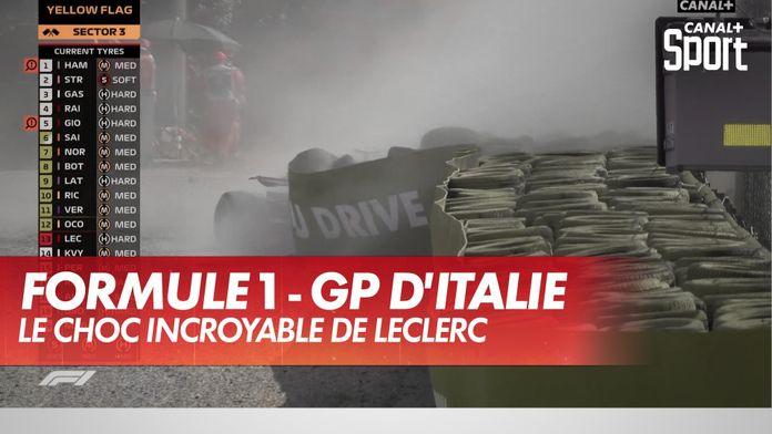 Le choc incroyable de Leclerc : Grand Prix d'Italie