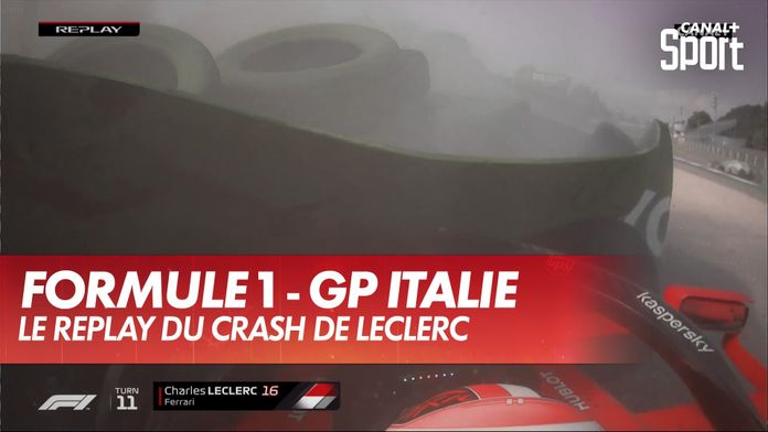 Le replay du crash de Charles Leclerc : Grand Prix d'Italie