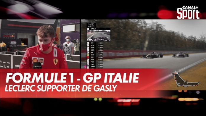 Leclerc supporter de Gasly : Grand Prix d'Italie
