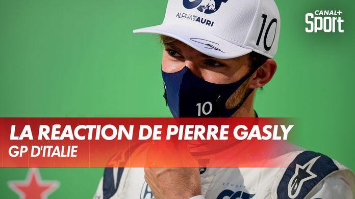 La réaction de Pierre Gasly après sa victoire : Grand Prix d'Italie