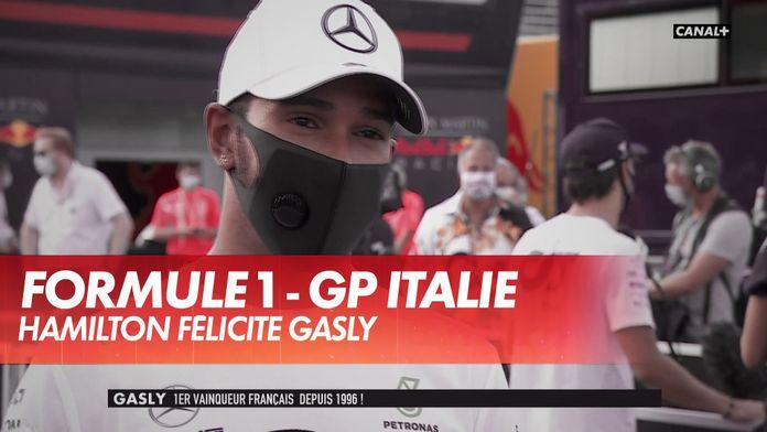 """Hamilton : """"Enormes félicitations à Pierre"""" : Grand Prix d'Italie"""