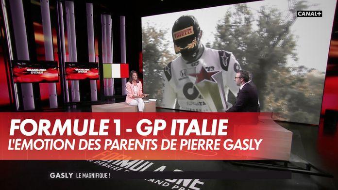 L'émotion des parents de Pierre Gasly au téléphone : Grand Prix d'Italie