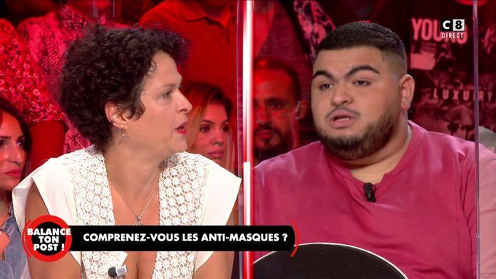 """Malek Délégué à une militante anti-masques : """"Vous êtes une femme dangereuse et irresponsable !"""""""