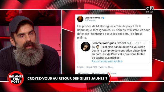 Jérôme Rodrigues revient sur ses propos polémiques envers les policiers