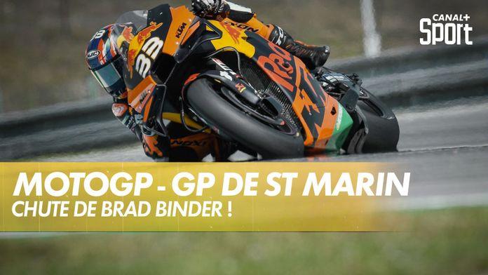 Chute de Brad Binder aux essais libres ! : MotoGP