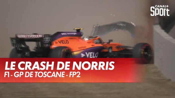 Le crash de Norris interrompt la séance de FP2 : Grand Prix de Toscane