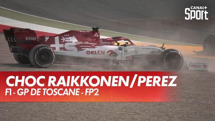 Accrochage entre Raikkonen et Perez en FP2 : Grand Prix de Toscane