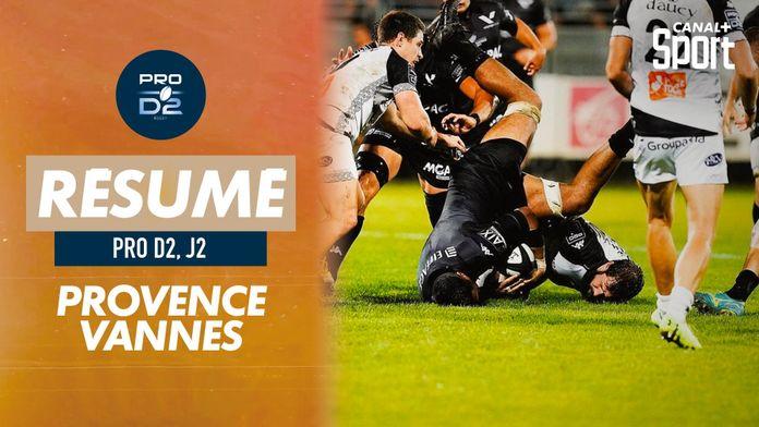 Le résumé de Provence Rugby / Vannes : PRO D2