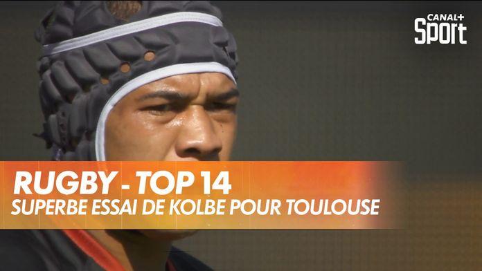 Superbe essai de Cheslin Kolbe pour Toulouse : TOP 14