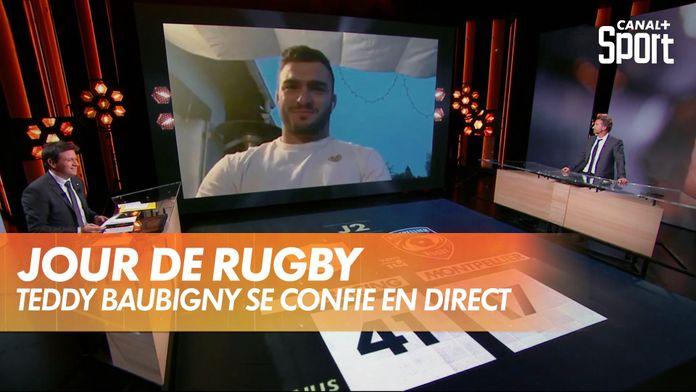 Teddy Baubigny se confie en direct dans Jour De Rugby : TOP 14
