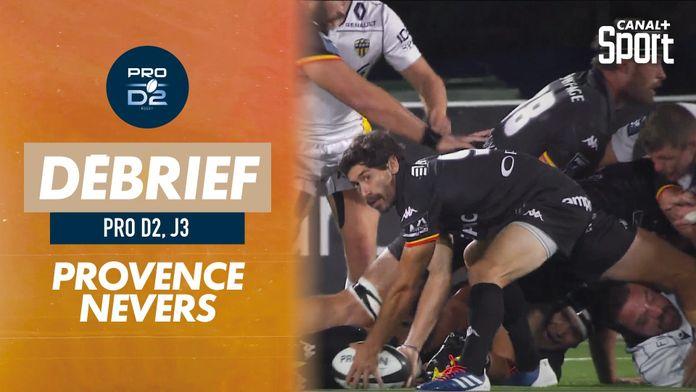 Le résumé de Provence Rugby / Nevers : PRO D2