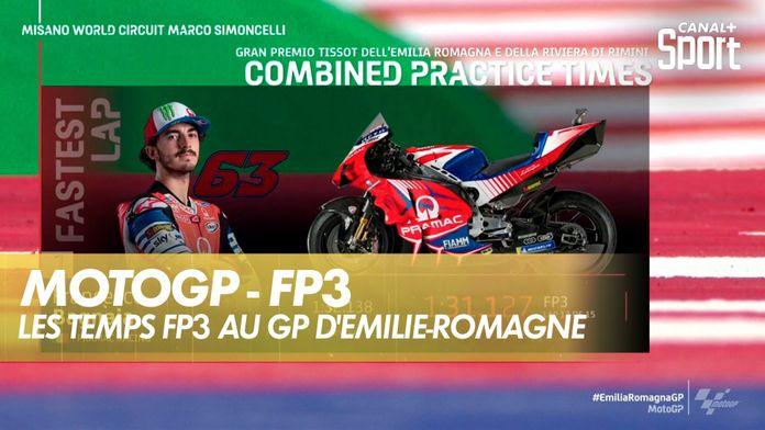 Les temps FP3 du GP du Grand Prix d'Emilie-Romagne : MotoGP