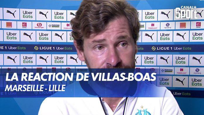 La réaction d'André Villas-Boas après Marseille - Lille