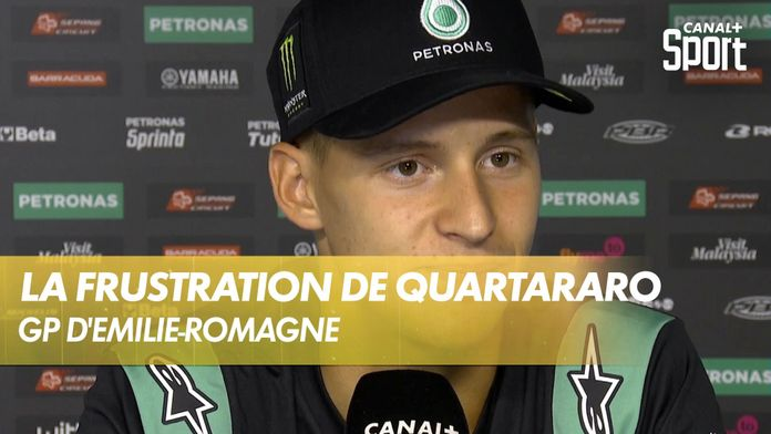L'énorme frustration et les explications de Quartararo : GP d'Émilie-Romagne