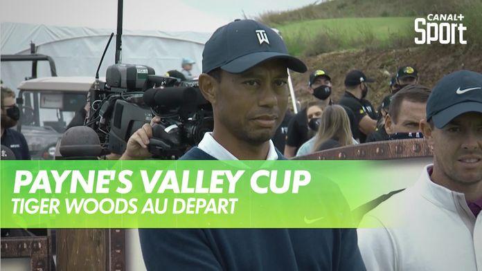 Le départ de la Payne's Valley Cup : Tiger Woods