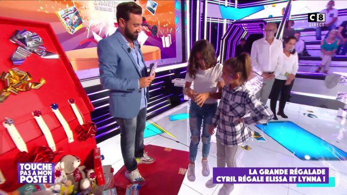 Cyril Hanouna offre des régalades pour Elisa et Lynna !