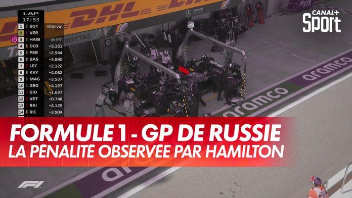Lewis Hamilton purge sa pénalité aux stands : Grand Prix de Toscane