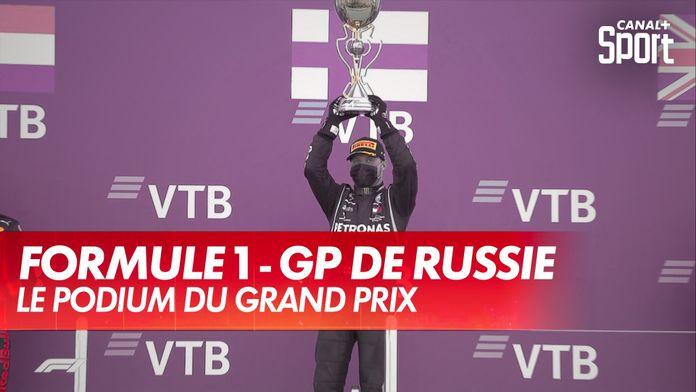 Le podium du Grand Prix de Russie : Grand Prix de Russie