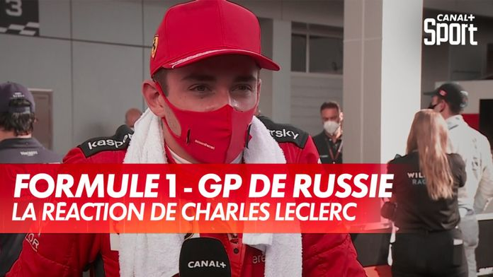La réaction de Charles Leclerc après le GP de Russie : Grand Prix de Russie