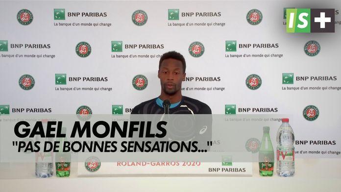 """Monfils : """" Pas de bonnes sensations"""" : Roland Garros - 1er tour"""