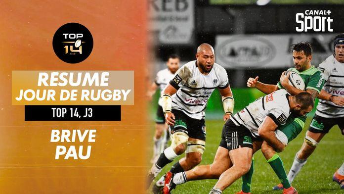 Le résumé Jour De Rugby de Brive / Pau : TOP 14