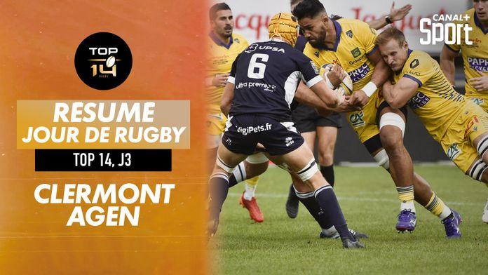 Le résumé Jour De Rugby de Clermont / Agen : TOP 14
