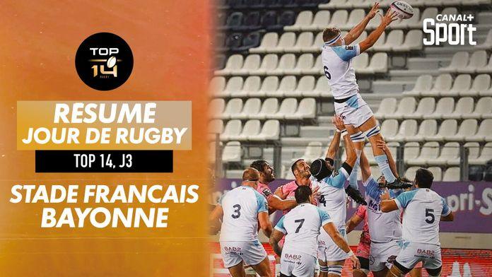Le résumé Jour De Rugby de Stade Français / Bayonne : TOP 14
