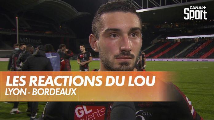 La joie des joueurs du LOU : Lyon - Bordeaux