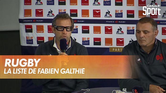 Retour du XV de France, la liste de Fabien Galthié !