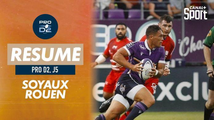 Le résumé de Soyaux Angoulême / Rouen : PRO D2