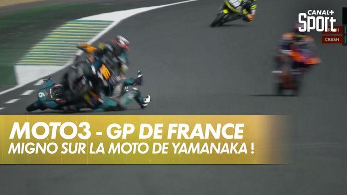 Andrea Migno grimpe sur Yamanaka ! : SHARK Helmets Grand Prix de France