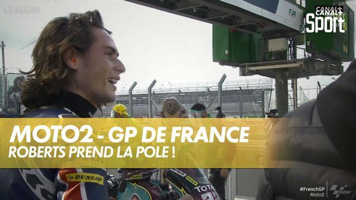 Joe Roberts en pole Moto2 : SHARK Helmets GP de France