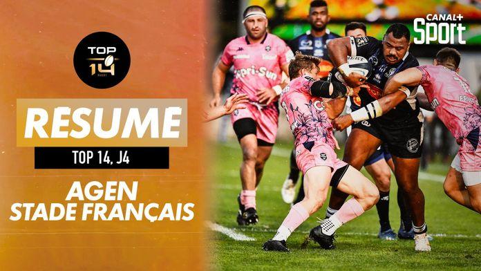 Le résumé Jour de Rugby d'Agen / Stade Français : TOP 14