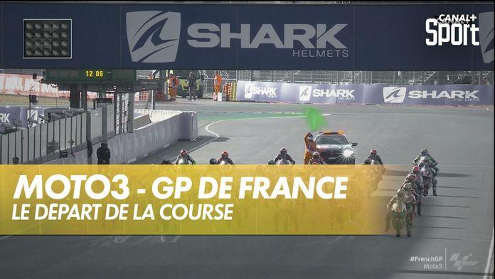 Le départ de la course Moto3 : SHARK Helmets GP de France