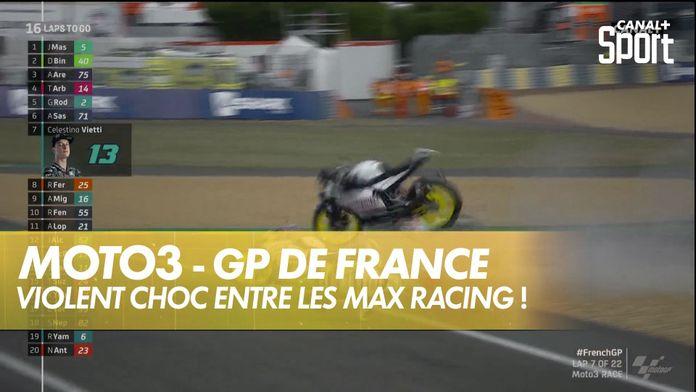 Chute impressionnante entre coéquipiers Moto3 : SHARK Helmets GP de France