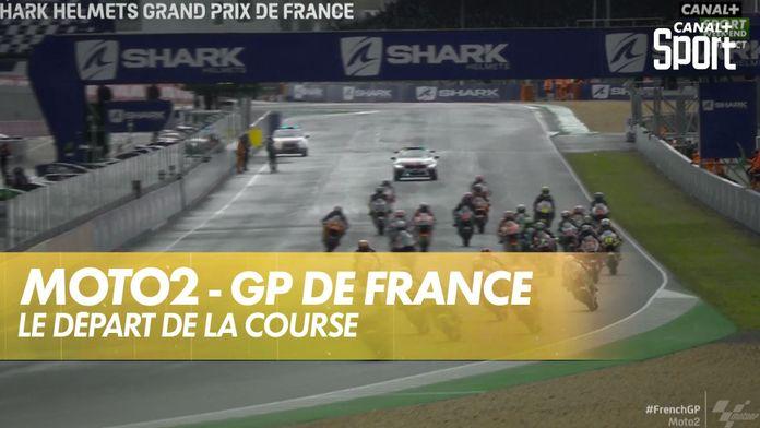 Le départ de la course Moto2 : SHARK Helmets GP de France