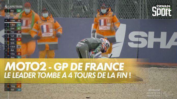 Le leader Moto2 tombe à 4 tours de la fin ! : SHARK Helmets GP de France
