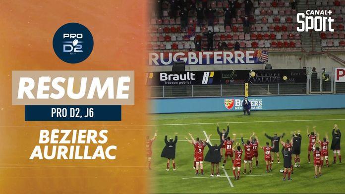Le résumé de Béziers / Aurillac : Pro D2