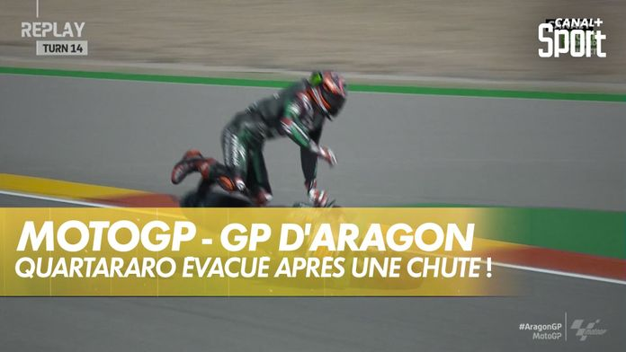 Lourde chute pour Fabio Quartararo ! : Grand Prix d'Aragon