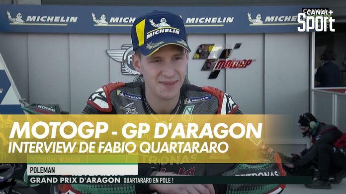 """Fabio Quartararo : Énormément de douleur en qualif"""" : Grand Prix d'Aragon"""