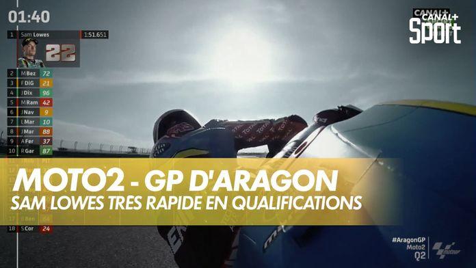 Sam Lowes en pole en Moto2, record de la piste pulvérisé ! : Grand Prix d'Aragon