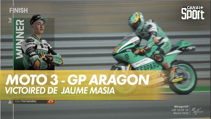 Jaume Masià remporte la course au finish : Grand prix d'Aragon - Moto 3