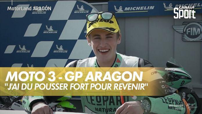 """Jaume Masia : """" j'ai du pousser fort pour revenir"""" : Grand prix d'Aragon Moto 3"""