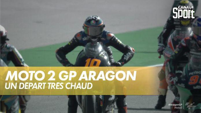 Le départ de la course : Grand prix d'Aragon  Moto 2