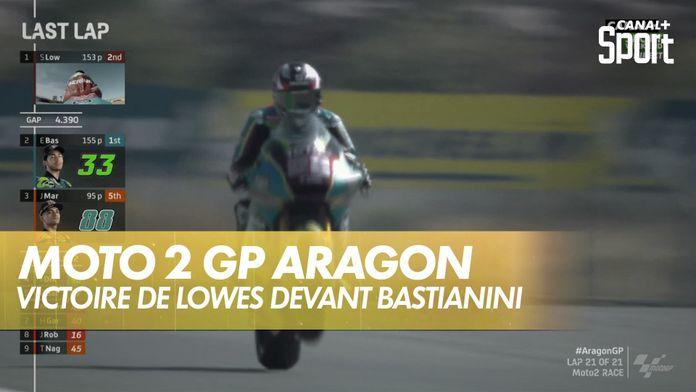 Sam Lowes remporte la course devant Bastianini : Grand prix d'Aragon Moto 2