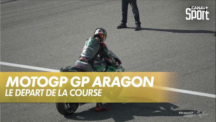 Le départ de la course : Grand Prix d'Aragon