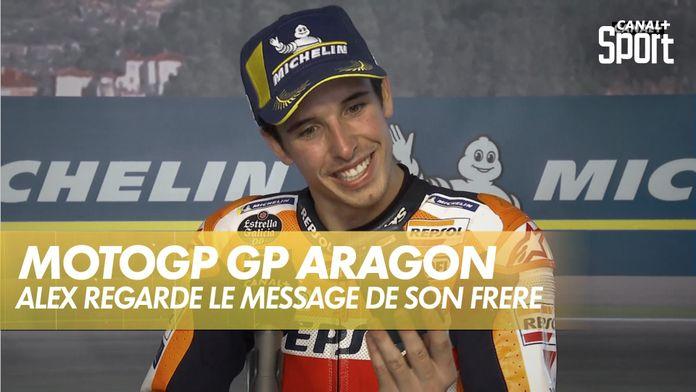 Alex Marquez regarde le message de son frère : Grand Prix d'Aragon