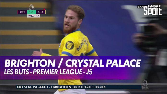 Les buts de Crystal Palace / Brighton : Premier League