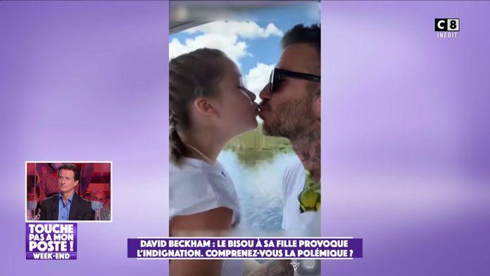 David Beckham embrasse sa fille sur les lèvres et provoque la polémique  sur les réseaux sociaux !